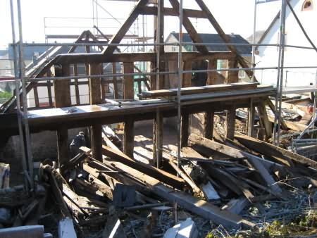 Rohbau des Krippenmuseums: Abriss