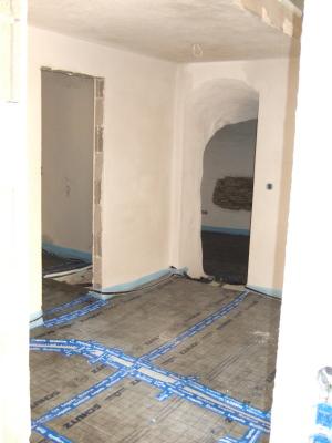 Fußboden mit Styrodur