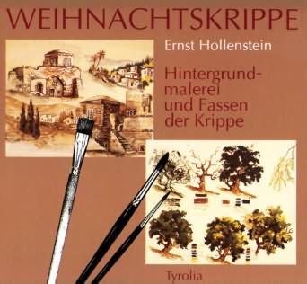"""Buchcover """"Weihnachtskrippe - Hintergrundmalerei und Fassen der Krippe"""""""