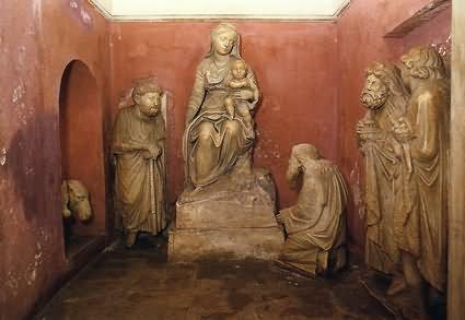Krippe in der Kirche Maria Maggiore in Rom