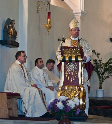 Diözesanbischof Ackermann bei seiner Ansprache