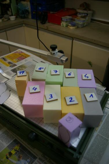 Halbzeuge für Amphoren nach dem Heißschneiden