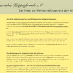 krippenverein.de auf einem PC-Bildschirm